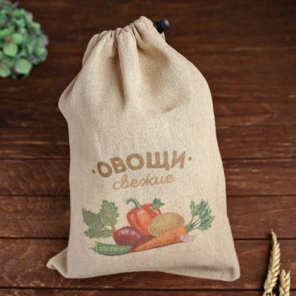 Мешочек для овощей «Здоровье», бежевый, 37 х 26 см