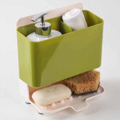 Подставка для ванных и кухонных принадлежностей на присосках, 19 х 11,5 x 20 см
