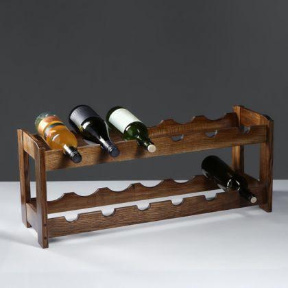 Стеллаж винный «Rustic», массив ясеня, 70 х 25 х 30 см