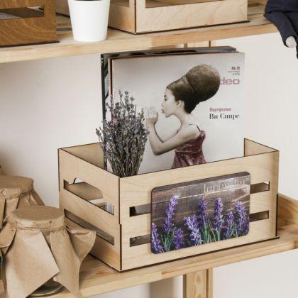 Ящик для хранения «Lavender», бежевый, 30 х 15 х 20 см