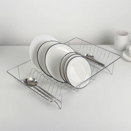 Сушилка для посуды, хром, 47,5 x 32 x 9 см