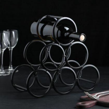 Подставка для бутылок «Mono», черный, 31,5 x 12,5 x 28,5 см