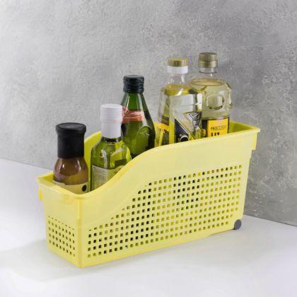 Контейнер хозяйственный на колесах «Loft», желтый, 35,5 x 13 x 17 см