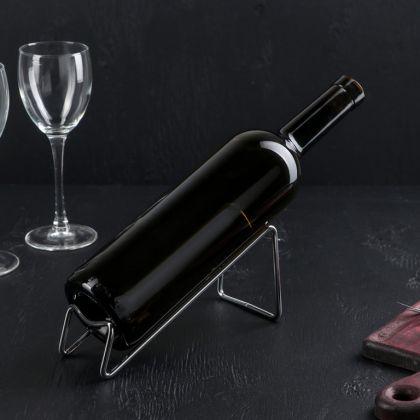 Подставка для бутылки «Горка», хром, 18 x 7,5 x 8 см