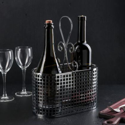 Подставка для бутылок «Вензель», хром, 31,5 x 13 x 24 см