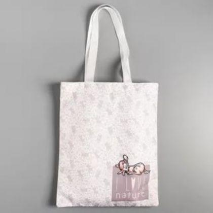 Сумка текстильная «Bambi», без молнии, белый, 31 x 1 x 40,5 см