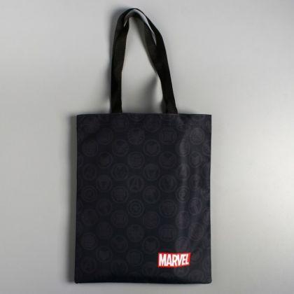 Сумка текстильная «Marvel», без молнии, черный, 31 x 1 x 40,5 см