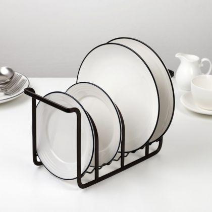 Сушилка для тарелок «Loft», на 10 предметов, коричневый, 25,5 x 11 x 16 см
