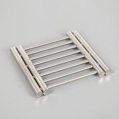 Сушилка на раковину раздвижная, нержавеющая сталь, 22 x 20 x 2 см