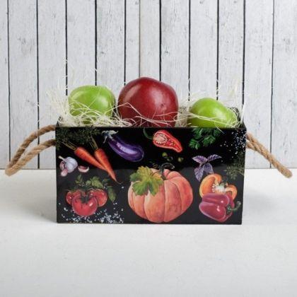 Ящик для хранения с веревкой «Аппетит», черный, 25 х 12 x 13,5 см