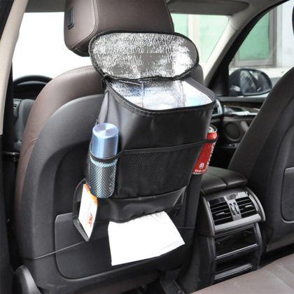 Авто-органайзер с термосумкой, черный, 22 x 10 x 28 см