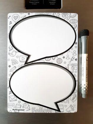 Магнитный планер «Комиксы», белый, 21 x 15 см