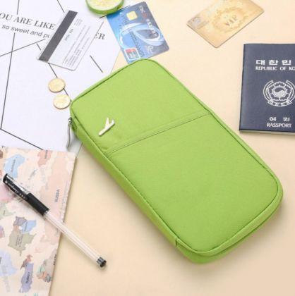 Многофункциональный холдер для путешествий, зеленый, 24 x 13 x 2 см