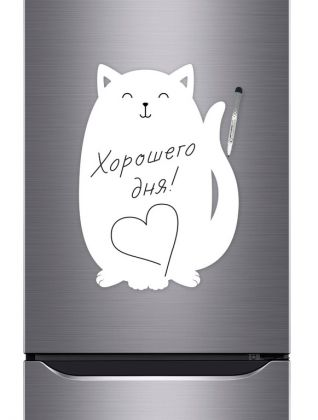 Магнитная маркерная доска для рисования «Cat», белый, 40 х 30 см
