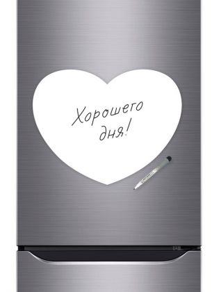 Магнитная маркерная доска для рисования «Heart», белый, 40 х 30 см