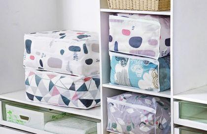 Кофр для постельного белья «Home Bed», серый, 57 x 40 x 22 см