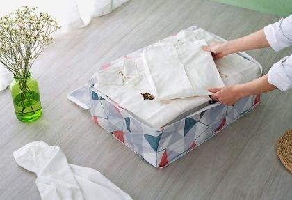 Кофр для постельного белья «Home Bed», серый, 55 x 36 x 20 см
