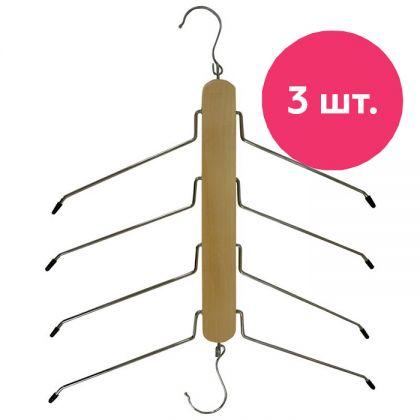 Набор вешалок для рубашек деревянных, 3 шт, 40 x 2,7 x 47,9 см