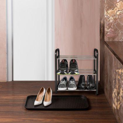 Комплект из полки для обуви 3 яруса и поддона для обуви