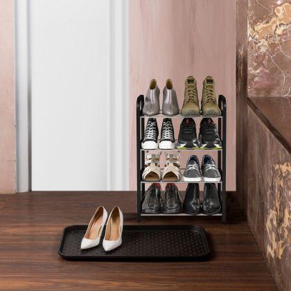 Комплект из полки для обуви 4 яруса и поддона для обуви