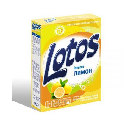 Стиральный порошок «Lotos» Лимон автомат, 350 г, 13,5 x 3 x 19 см