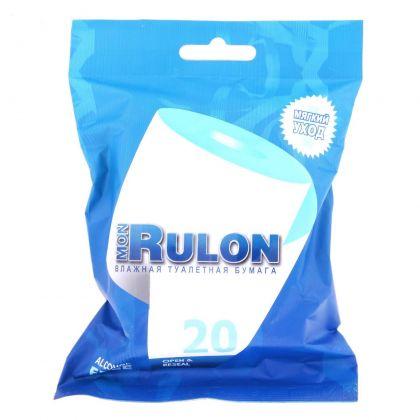Туалетная бумага влажная «Mon Rulon», 20 шт, 9 x 3 x 15 см
