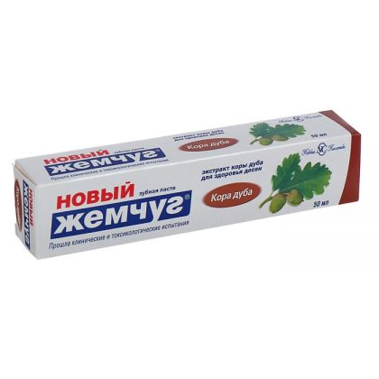 Зубная паста «Новый Жемчуг» Кора дуба, 50 мл