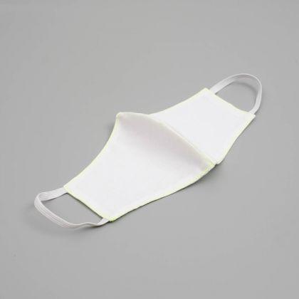 Маска тканевая многоразовая для лица, белый, 26 x 13 см
