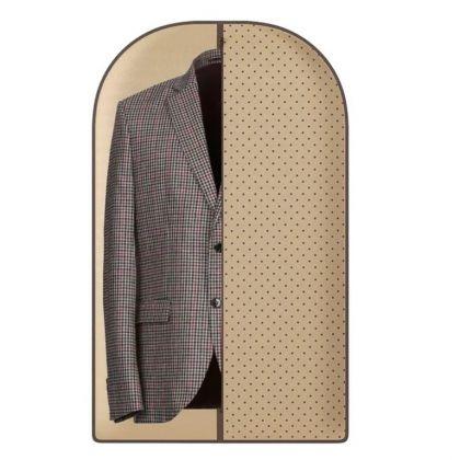 """Чехол для одежды """"Горох"""", бежевый, 100 х 60 см"""