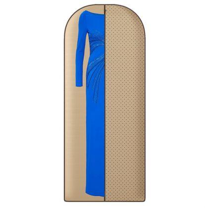 Чехол для длинной одежды «Горох», бежевый, 150 х 60 см