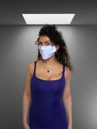 Тканевая маска многоразовая, белый, 23 x 11,5 см