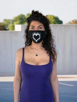 Тканевая маска «Сердце» многоразовая, 23 x 11,5 см