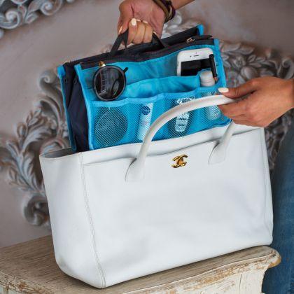 """Органайзер для сумки """"Chelsy"""", голубой, 28,5 х 8,5 х 18,5 см"""