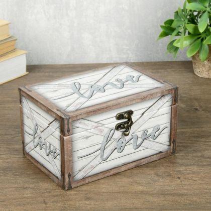 Шкатулка «Love Box», белый, 18 x 12 x 10 см