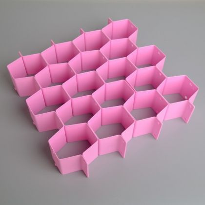 Органайзер-разделитель для ящиков, 8 перегородок, 34,3 x 0,1 x 6,6 см