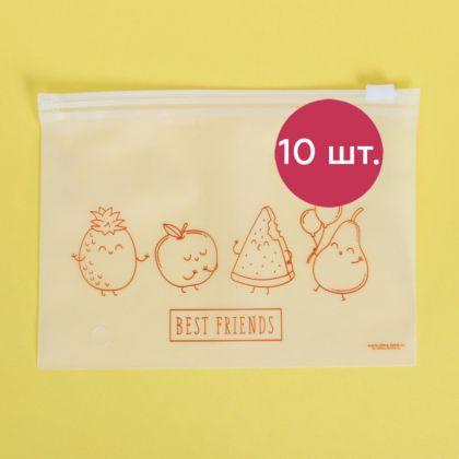 Комплект пакетов для хранения еды горизонтальных «Best Friends», 10 шт, 16 x 9 см