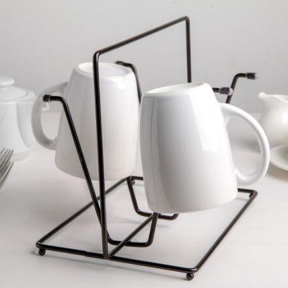 Сушилка для стаканов «Loft», черный, 24,5 x 16 x 19,8 см