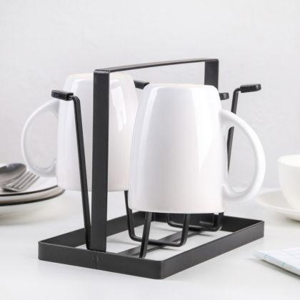 Сушилка для стаканов «Loft», черный, 9 x 12,5 х 16,5 см