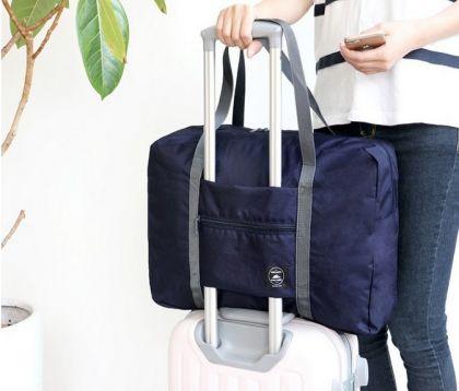 Складная сумка для путешествий, синий, 48 х 16 x 32 см