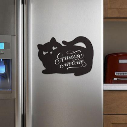 Грифельная магнитная доска «Black cat 2», 40 x 27 см