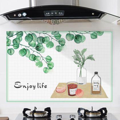 Наклейка жироотталкивающая для кухни «Enjoy Life», 90 x 60 см