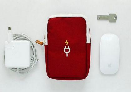 Органайзер для проводов «Travel Gadget», красный, 18 х 12 х 4 см