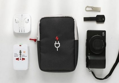 Органайзер для проводов «Travel Gadget», серый, 18 х 12 х 4 см