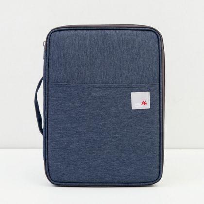 Органайзер-папка для документов «Бизнес», синий, 35 x 25 x 3 см