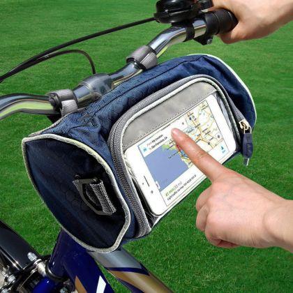 Органайзер-сумка на руль велосипеда, синий, 22 x 11 x 11 см
