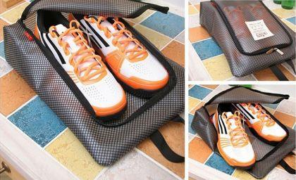 Сумка для обуви на молнии «Shoes Pouch», черный, 36 x 27 см
