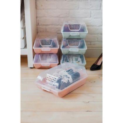 Коробка для хранения обуви «Trace», розовый, 37 х 22 х 14 см