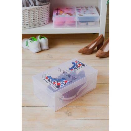 Короб для хранения «I love shoes», белый, 33 х 20 х 12 см