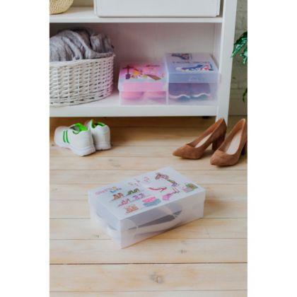Короб для хранения «Туфли», белый, 30 х 18 х 10 см