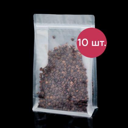 Комплект пакетов Zip-lock матовый с плоским дном, 10 шт, 30 х 20 см